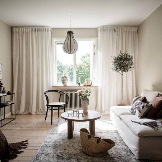 Una casa soft con un tocco di botanica