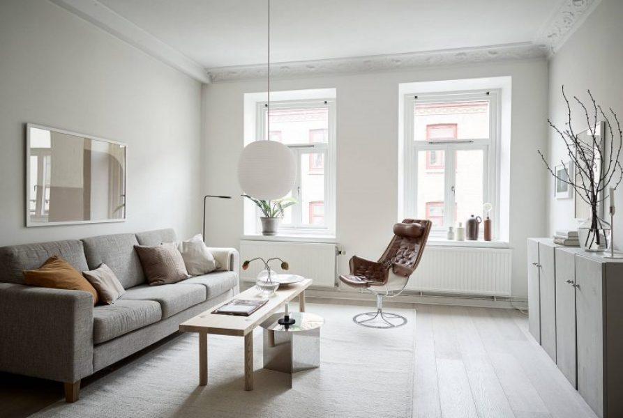 Un appartamento in stile scandinavo leggero
